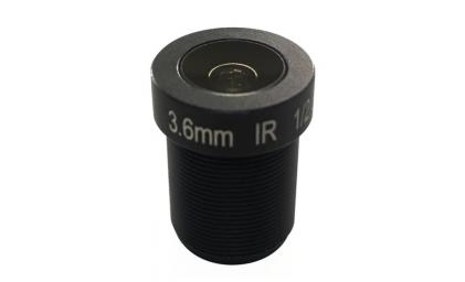 """M12, 1/2.5"""", 3.6mm, F2.0, 5MP, no IR filter"""