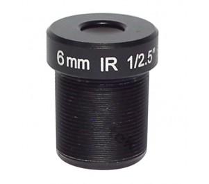 """M12, 1/2.5"""", 6mm, F2.0, 5MP, no IR filter"""
