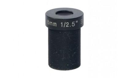 """M12, 1/2.5"""", 8mm, F2.0, 5MP, no IR filter"""
