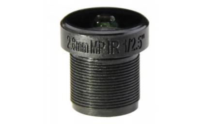 """M12, 1/2.5"""", 2.8mm, F1.8, 5MP, no IR filter"""